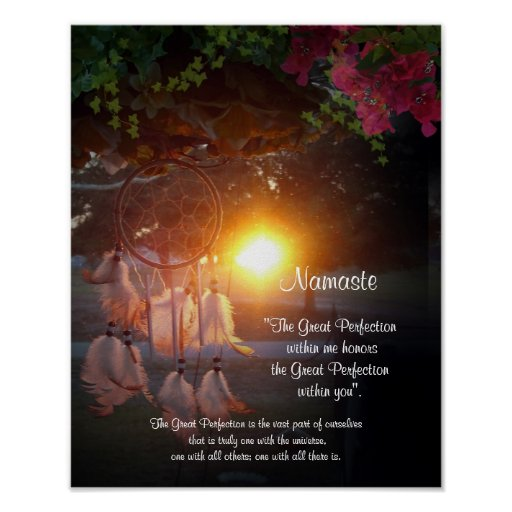 Namaste Dreamcatcher sunset Poster