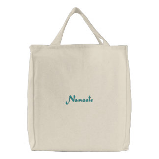 Namaste Embroidered Tote Bag