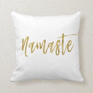 Namaste Faux Gold Foil Pillow