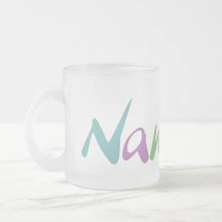 Namaste Frosted Glass Coffee Mug