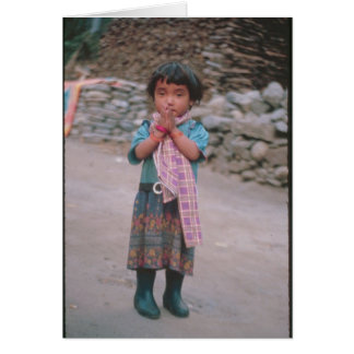 Namaste Girl Card