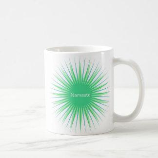 namaste green sun mug