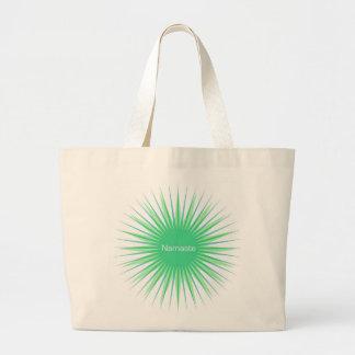 namaste green sun tote bag