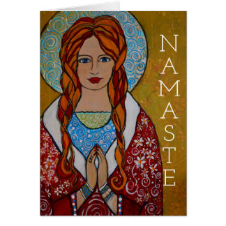 Namaste Greeting Card Spiritual Customize Zen Yoga