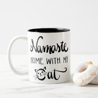 Namaste Home with My Cat Mug