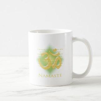 Namaste - I bow to you (in green) Coffee Mug