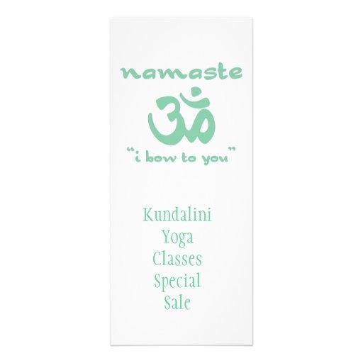 Namaste - I bow to you (in green) Custom Invite
