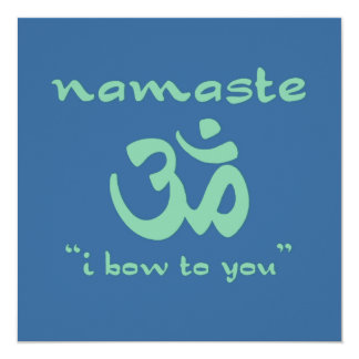 Namaste - I bow to you (in green) Custom Announcements