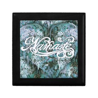 Namaste in Blue Small Square Gift Box