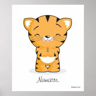 Namaste Kitten Poster