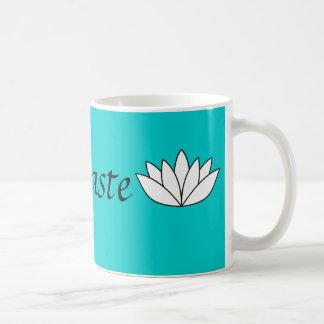 Namaste lotus basic white mug