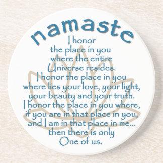 Namaste Lotus Beverage Coaster