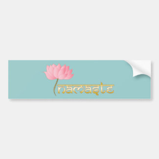 Namaste Lotus Bumper Sticker