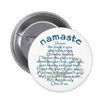 Namaste Lotus Button