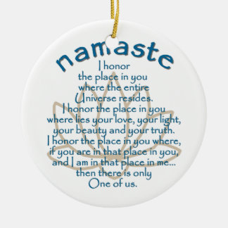 Namaste Lotus Christmas Ornament