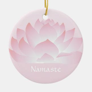 Namaste Lotus Flower Pink Ornament