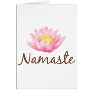 Namaste Lotus Flower Yoga Greeting Card