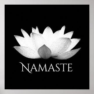 Namaste Lotus Flower Yoga Poster