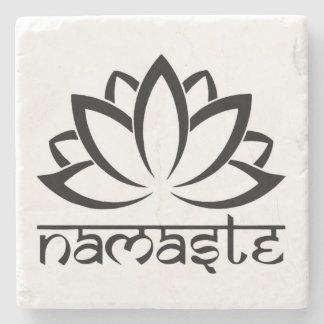 Namaste, Lotus Flower, Yoga, Spiritual Coasters