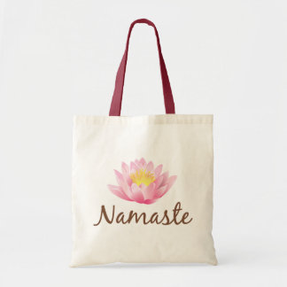 Namaste Lotus Flower Yoga Tote Bag