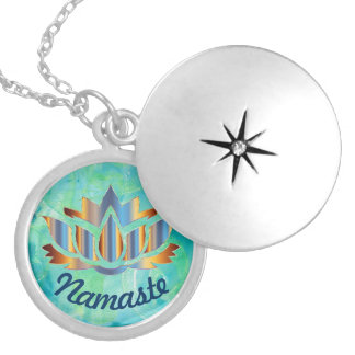 Namaste Lotus Monoprint Necklace