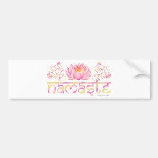 Namaste lotus new bumper sticker