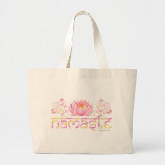 Namaste lotus new large tote bag