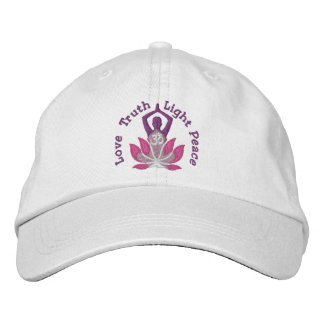 Namaste Lotus Om Yoga Pose Embroidered Embroidered Cap