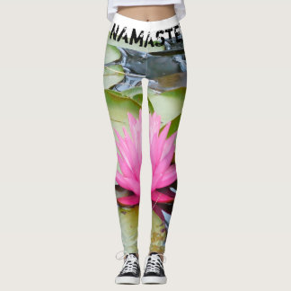 NAMASTE' LOTUS PEACE YOGA LEGGINGS