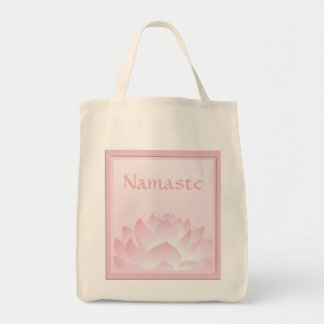 Namaste Lotus Pink Flower Design Custom Tote Bag