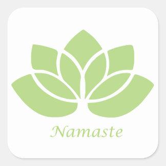 Namaste Lotus Square Sticker