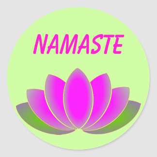 Namaste lotus sticker
