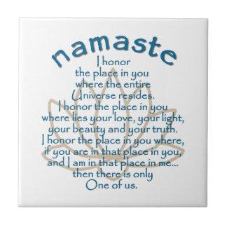Namaste Lotus Tile