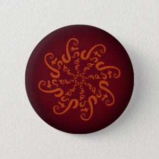 Namaste Mandala 6 Cm Round Badge