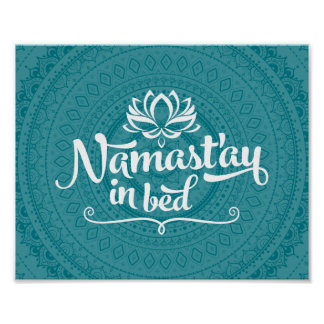 Namaste Mandala Funny Quote CUSTOMIZABLE Poster