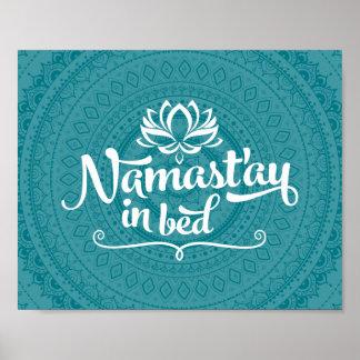 Namaste Mandala Funny Quote CUSTOMIZABLE Poster