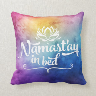 Namaste Mandala Funny Quote Pillow