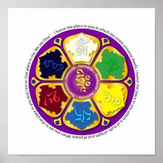 Namaste Mandala - purple Poster