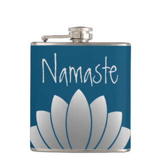 Namaste Modern Lotus Floral Hip Flask