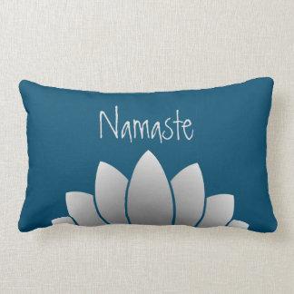 Namaste Modern Lotus Floral Lumbar Cushion