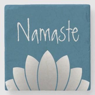 Namaste Modern Lotus Floral Stone Beverage Coaster