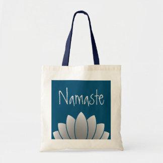 Namaste Modern Lotus Floral Tote Bag
