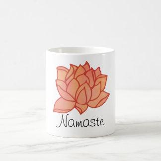 Namaste Orange Lotus Mug