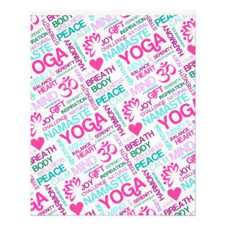 Namaste, Peace and Harmony Pink YOGA Pattern 11.5 Cm X 14 Cm Flyer