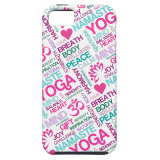 Namaste, Peace and Harmony Pink YOGA Pattern iPhone 5 Cases