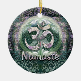 Namaste Peace Symbol Christmas Ornament
