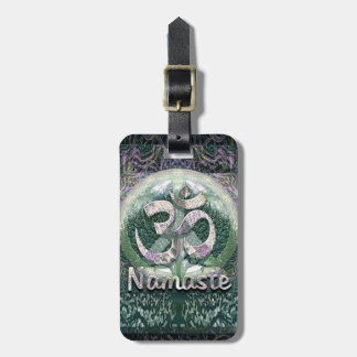 Namaste Peace Symbol Luggage Tag