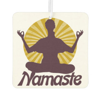 Namaste peaceful meditation car air freshener