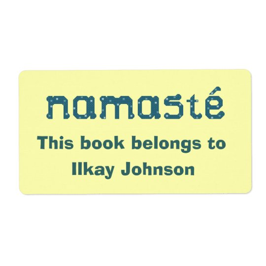 Namaste Personalised Bookplate Shipping Label