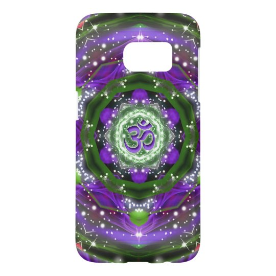 Namaste Purple and Green Mandala